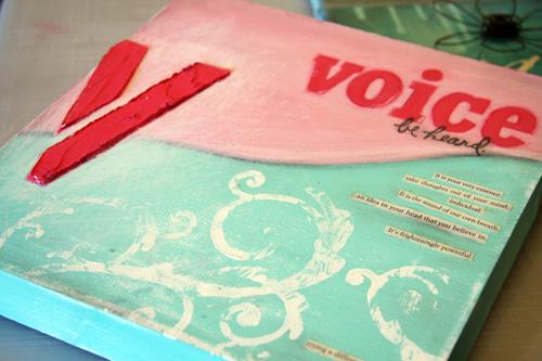 Voice canvas 1o x 1o-
