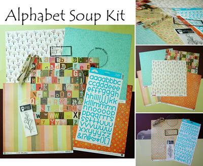 Alphabet soup complete kit