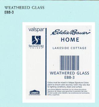 Weathered glass swatch