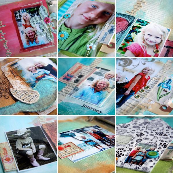 Fabric svrapbooking collage