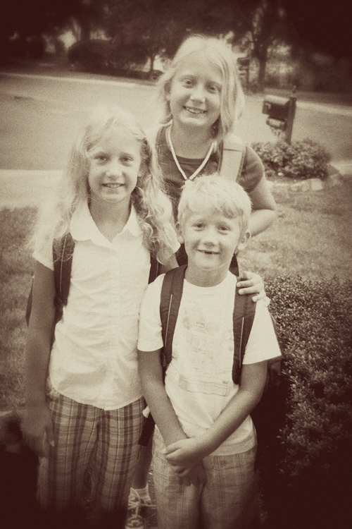 1st day of school - 1-3-5old school-