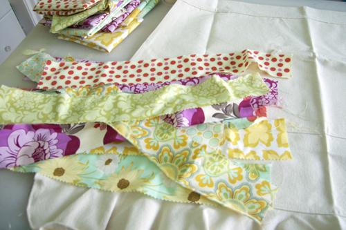 Patchwork apron-