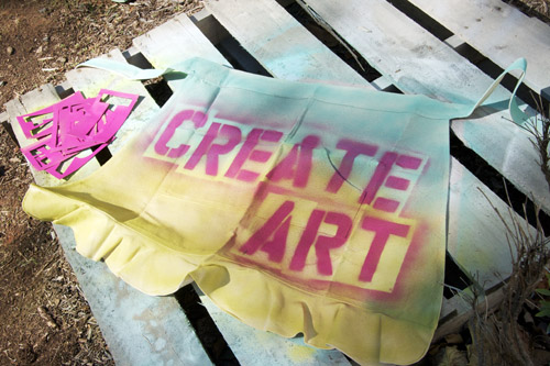 Create art apron
