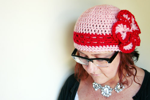 Pink+red cloche