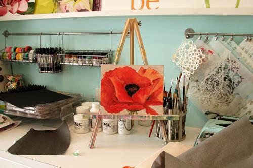 Panpastel red poppy