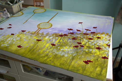 Purple field in progress-