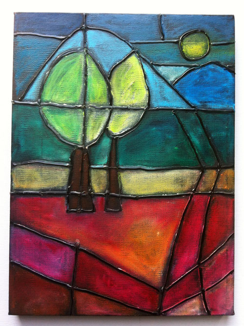 Stained glass on canvas2-
