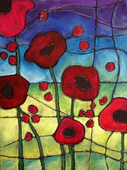 Canvas create OCT - faux stained glass1-