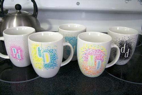 Monigrammed mugs-