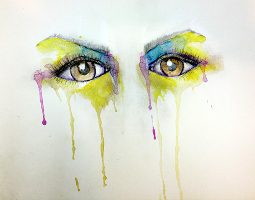 Painted eyes-