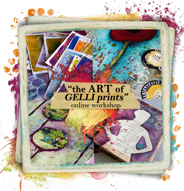 The art of gelli prints logo