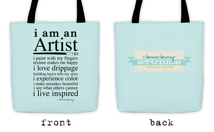 Tote front and back