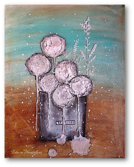 Mixed media flowers nika rouss artist gang