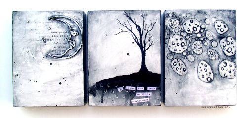 DeeDee Catron - Triptych Finished