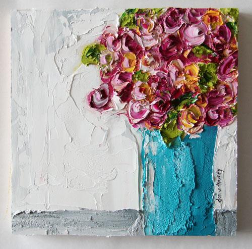 Vase of roses - OILfull-