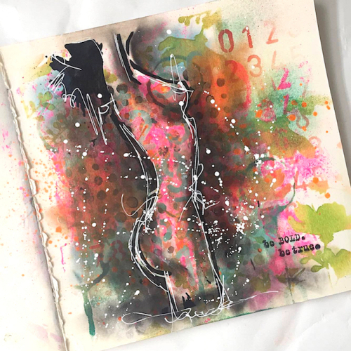 Donna downey female figure stencil art journal nika rouss