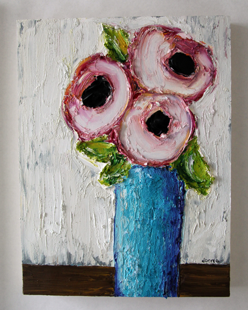 Oil - 3 poppies-