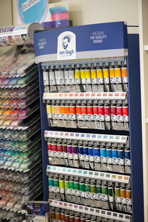 Oil paint display