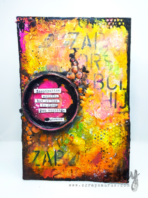 Mixed-Media-Altered_Zoey_Scrapsaurus_DonnaDowney_ArtistGang