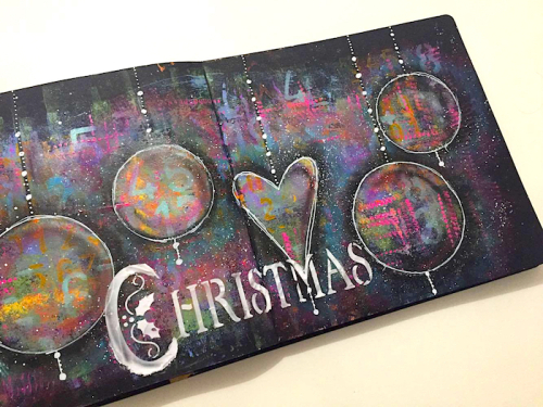 Christmas Art Journal Artist Gang Nika Rouss