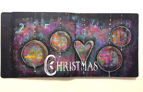 Christmas Mixed Mrfia Black Art Journal Nika in Wonderland