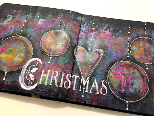 Christmas Mixed Media Art Journal